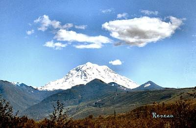 Photograph - Mt Rainier Washington by Sadie Reneau