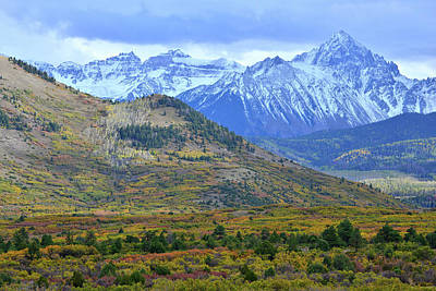 Photograph - Mt. Sneffels Fall Colors by Ray Mathis