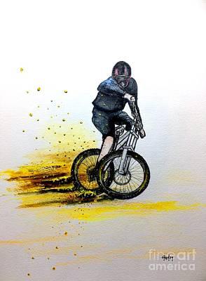 Brakes Mixed Media - Mtb Bmx Cycling by Gordon Lavender