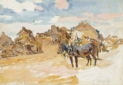 Drawing - Mules And Ruins by John Singer Sargent