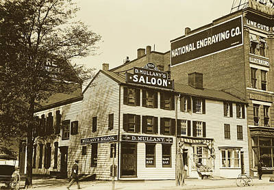 Photograph - Mullany's Saloon, Washington D C 1913 by Library Of Congress
