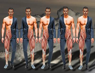 Multiple Personalities Digital Art - Multiple Personality by Solomon Barroa