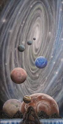 Cosmology Painting - Multiverse 584 by Sam Del Russi