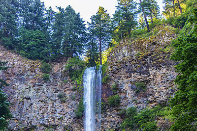 Photograph - Multnomah Falls Cliff by Jonny D