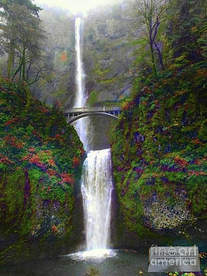 Photograph - Multnomah Falls by Scott Cameron