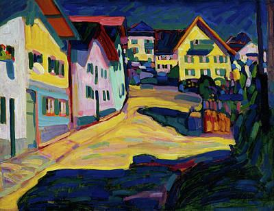 Boulevard Painting - Murnau, Burggrabenstrasse 1 by Wassily Kandinsky