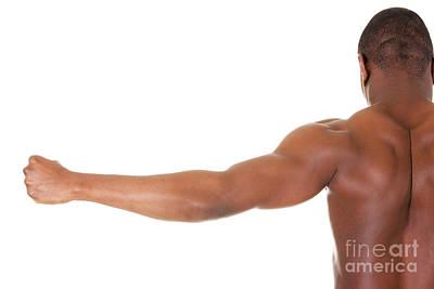 Muscular Black Man Art Print by Piotr Marcinski