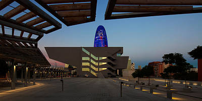 Barcelona Photograph - Museum In A City, Disseny Hub by Panoramic Images
