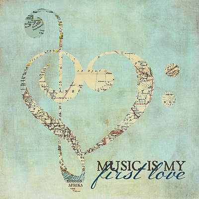 Music Is My First Love V3 Art Print by Brandi Fitzgerald