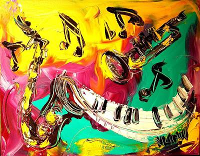 Music Jazz Art Print by Mark Kazav