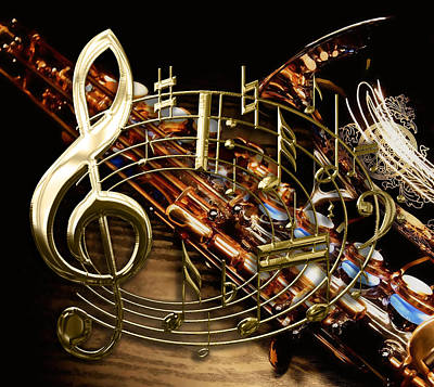 Note Mixed Media - Musical Collection by Marvin Blaine
