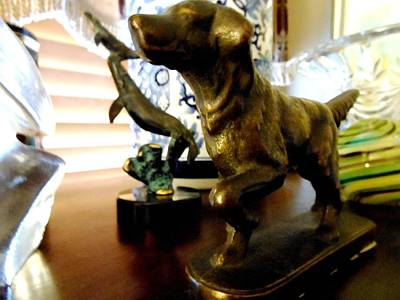 Glass Oil Dome Sculpture - My Dog by Frederick Lyle Morris