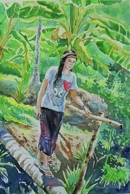 Painting - My Good Memories In Ampawa Garden by Wanvisa Klawklean