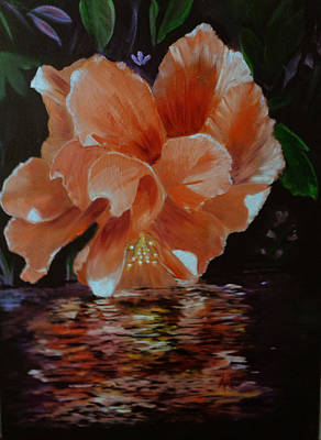 Painting - My Hibiscus by Arlen Avernian - Thorensen