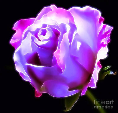 Abstract Rose Digital Art - My Love For You by Krissy Katsimbras