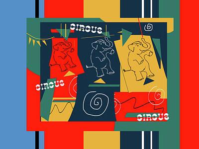 Digital Art - My Circus Buddies by Janis Kirstein