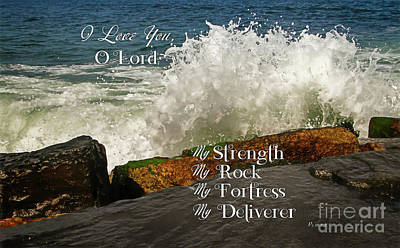 Photograph - My Rock And My Fortress Psalm 18 by Eleanor Abramson