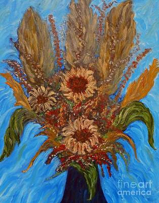 Painting - My Sunflowers by Vivian Cook