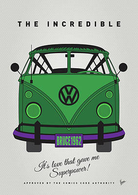 Wonder Woman Digital Art - My Superhero-vw-t1-hulk by Chungkong Art