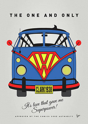 My Superhero-vw-t1-superman Art Print