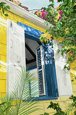 Creole Cottage Wall Art - Painting - My View by John Canning