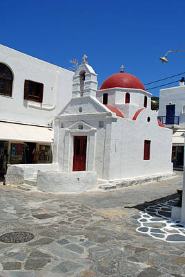 Photograph - Mykonos Red Chapel by Robert Moss