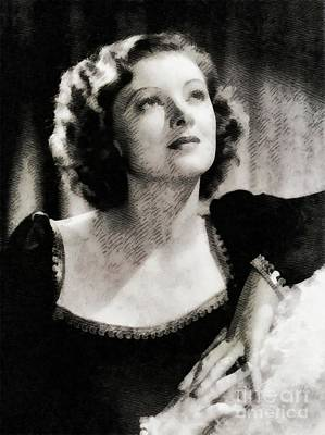 Recently Sold - Musicians Royalty Free Images - Myrna Loy, Vintage Actress Royalty-Free Image by Esoterica Art Agency