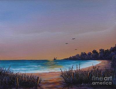 Myrtle Beach Sunset Art Print by Jerry Walker