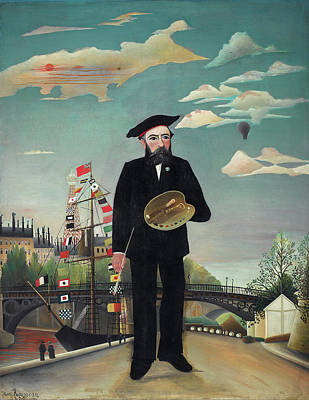Painting - Myself Portrait Landscape  by Henri Rousseau