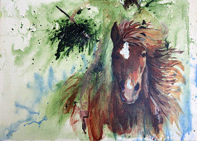 Mystic Rider Art Print