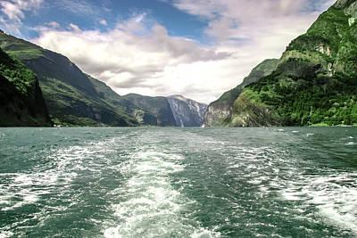 Photograph - Naeroyfjord by KG Thienemann