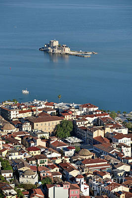 Painting - Nafplio Town And Bourtzi Fortress by George Atsametakis