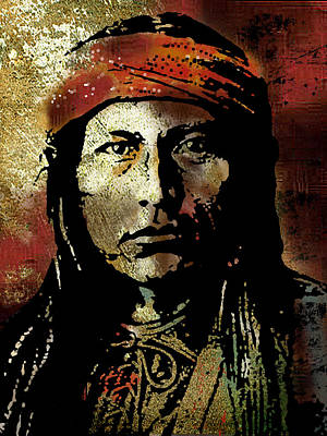 Native Portraits Painting - Naichez by Paul Sachtleben