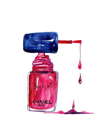For Salons Painting - Nail Polish by Sweeping Girl