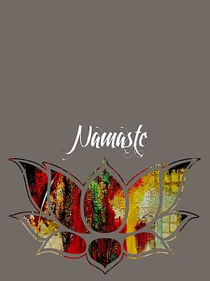 Mixed Media - Namaste by Marvin Blaine