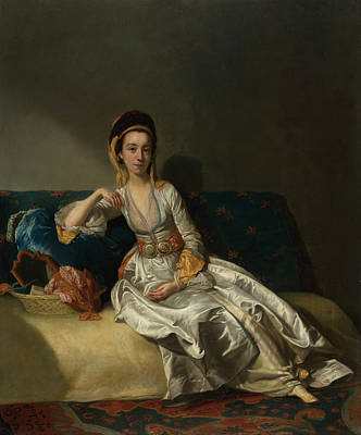 Willison Painting - Nancy Parsons In Turkish Dress by George Willison