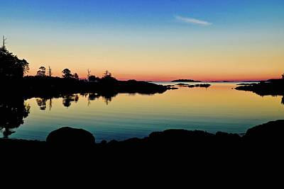 Photograph - Nanoose Lagoon Dusk by Brian Sereda