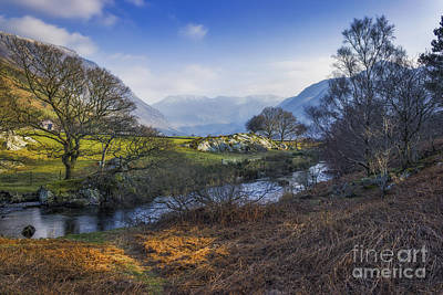 Spring Scenery Photograph - Nant Ffrancon Pass by Ian Mitchell
