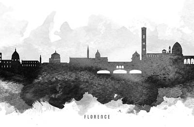 Florence Italy Painting - Naples Cityscape 11 by Aged Pixel