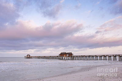 Naples Pier Photograph - Naples Pier At Dawn by Rob Tilley