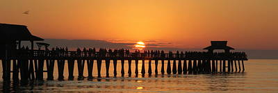 Naples Pier At Sunset Art Print by Sean Allen