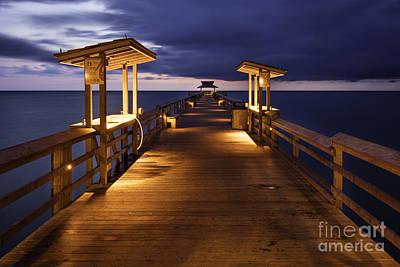 Photograph - Naples Pier Twilight by Brian Jannsen