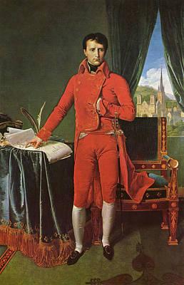 Noble Painting - Napoleon Bonaparte As Premier Consul by Jean-Auguste-Dominique Ingres