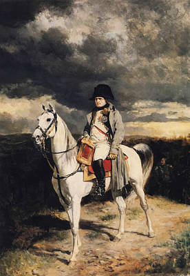 Leader Painting - Napoleon Bonaparte On Horseback by War Is Hell Store