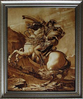 Pyrography - Napoleon Crossing The Alps by Dino Muradian