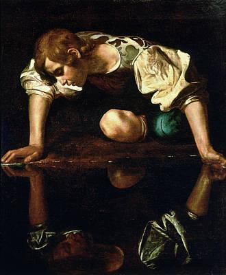 Caravaggio Painting - Narcissus by Caravaggio