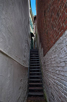 Photograph - Narrow Stairs by Murray Bloom