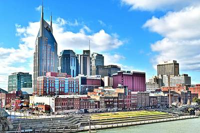 Photograph - Nashville From Above by Frozen in Time Fine Art Photography