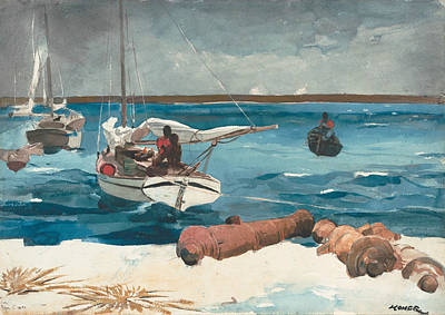 Realist Drawing - Nassau by Winslow Homer