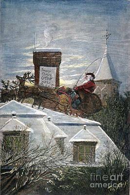 Christmas Eve Photograph - Nast: Santa Claus by Granger